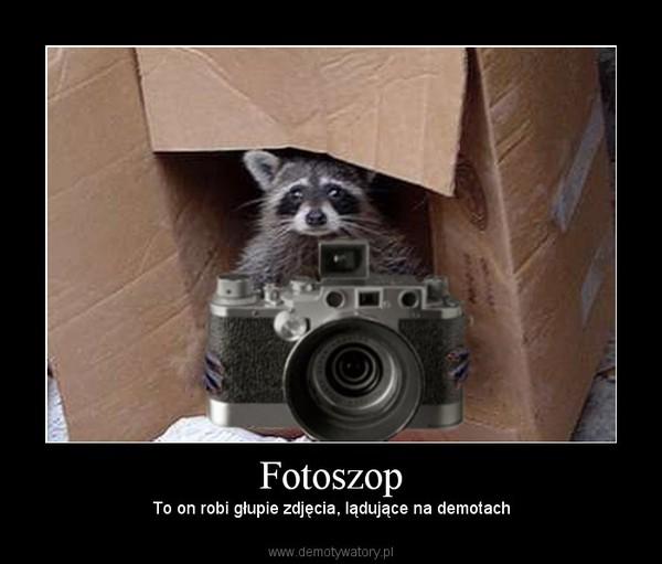 Fotoszop – To on robi głupie zdjęcia, lądujące na demotach