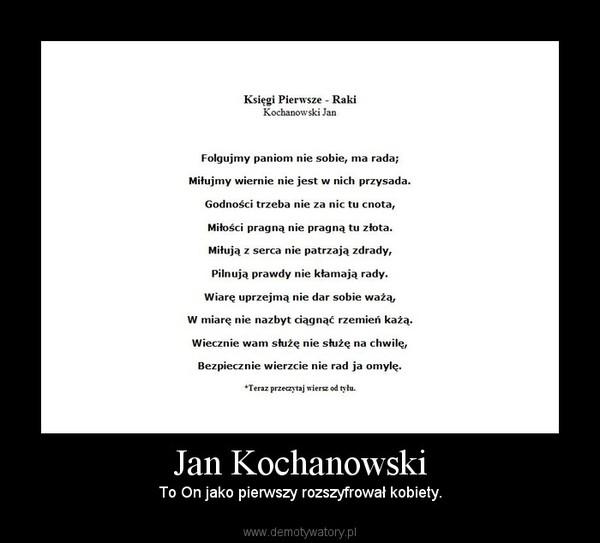Jan Kochanowski Demotywatorypl