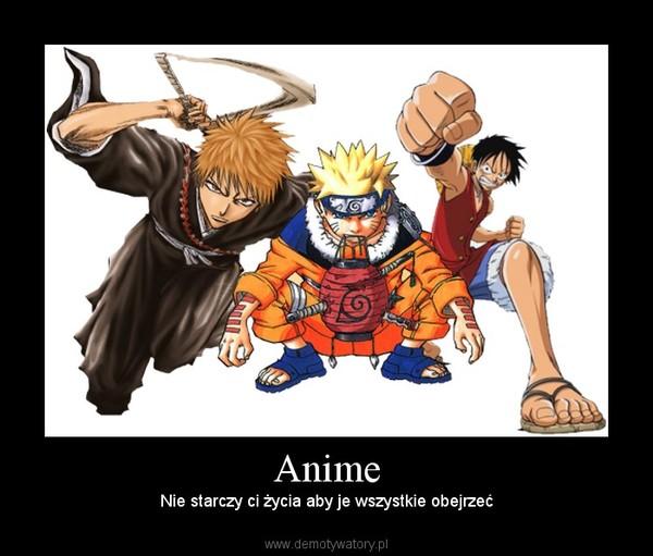 Anime – Nie starczy ci życia aby je wszystkie obejrzeć