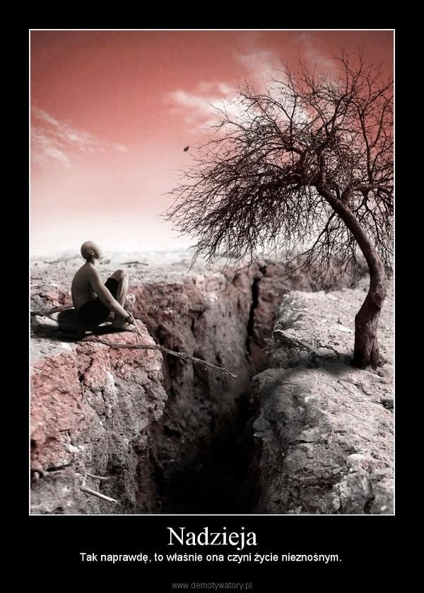 Nadzieja – Tak naprawdę, to właśnie ona czyni życie nieznośnym.