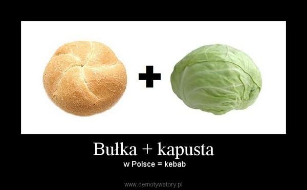 Bułka + kapusta –  w Polsce = kebab