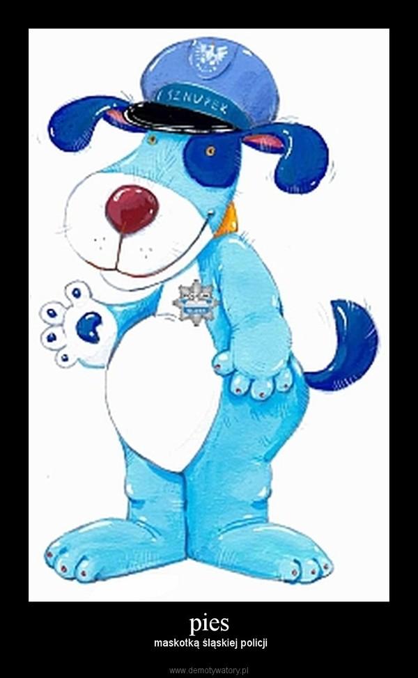 pies –  maskotką śląskiej policji