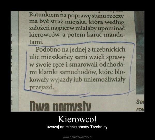 Kierowco! – uważaj na mieszkańców Trzebnicy