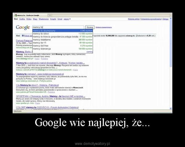 Google wie najlepiej, że... –