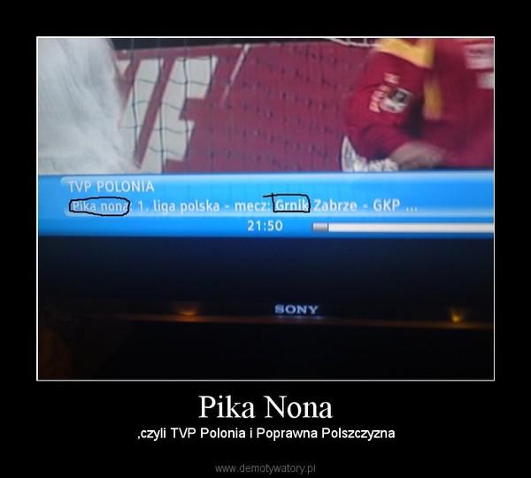 Pika Nona – ,czyli TVP Polonia i Poprawna Polszczyzna