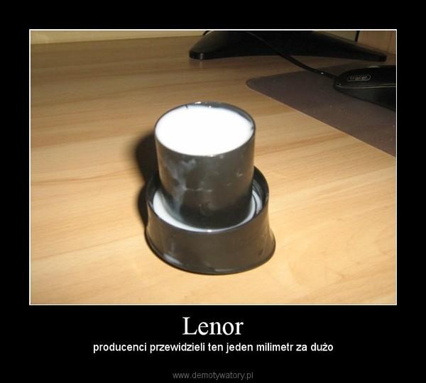 Lenor –  producenci przewidzieli ten jeden milimetr za dużo