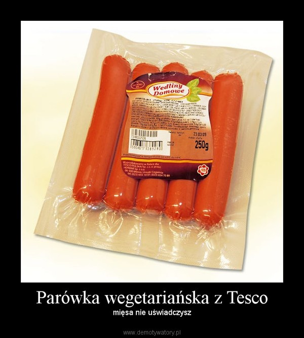 Parówka wegetariańska z Tesco – mięsa nie uświadczysz