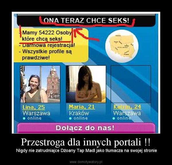 Przestroga dla innych portali !! –  Nigdy nie zatrudniajce Dżoany Tap Madl jako tłumacza na swojej stronie