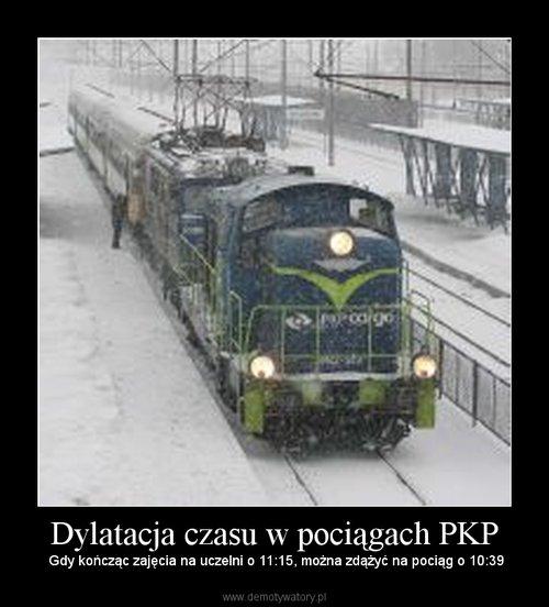 Dylatacja czasu w pociągach PKP