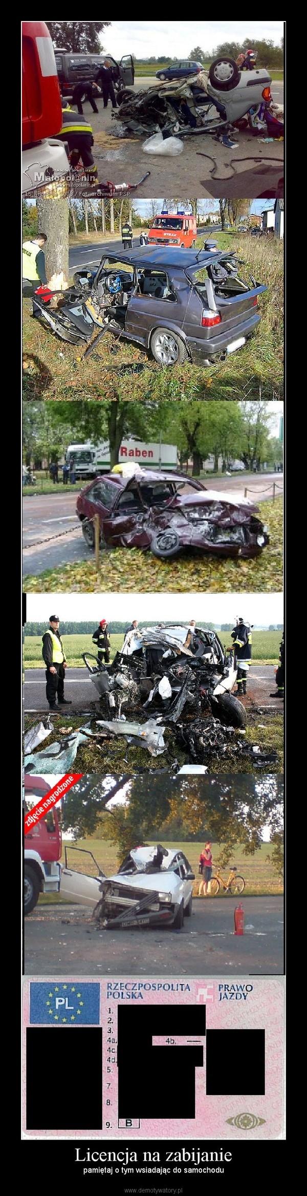 Licencja na zabijanie – pamiętaj o tym wsiadając do samochodu