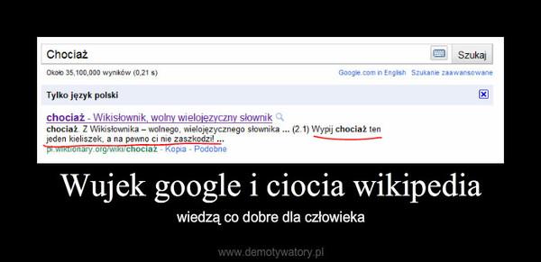 Wujek google i ciocia wikipedia – wiedzą co dobre dla człowieka
