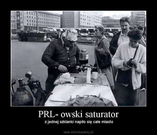 PRL- owski saturator – z jednej szklanki napiło się całe miasto