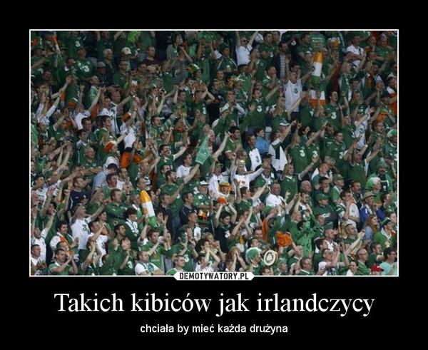Takich kibiców jak irlandczycy – chciała by mieć każda drużyna