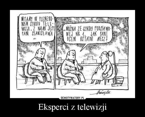 Eksperci z telewizji –