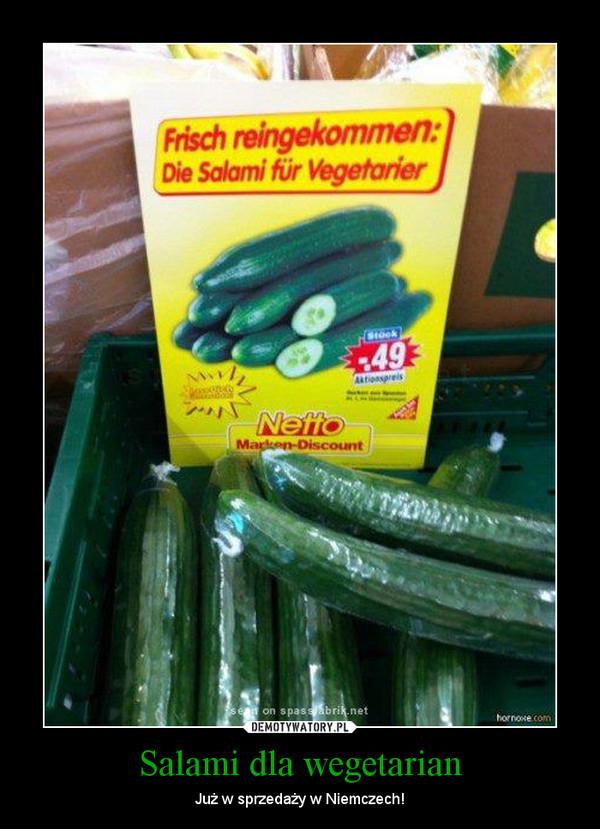 Salami dla wegetarian – Już w sprzedaży w Niemczech!