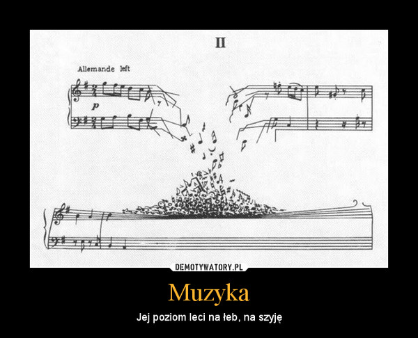Muzyka – Jej poziom leci na łeb, na szyję
