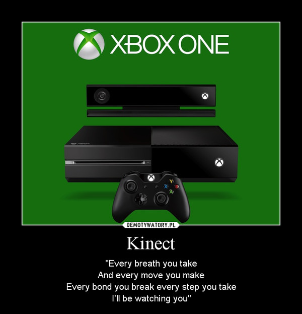 """Kinect – """"Every breath you takeAnd every move you makeEvery bond you break every step you takeI'll be watching you"""""""