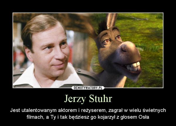 Jerzy Stuhr – Jest utalentowanym aktorem i reżyserem, zagrał w wielu świetnych filmach, a Ty i tak będziesz go kojarzył z głosem Osła