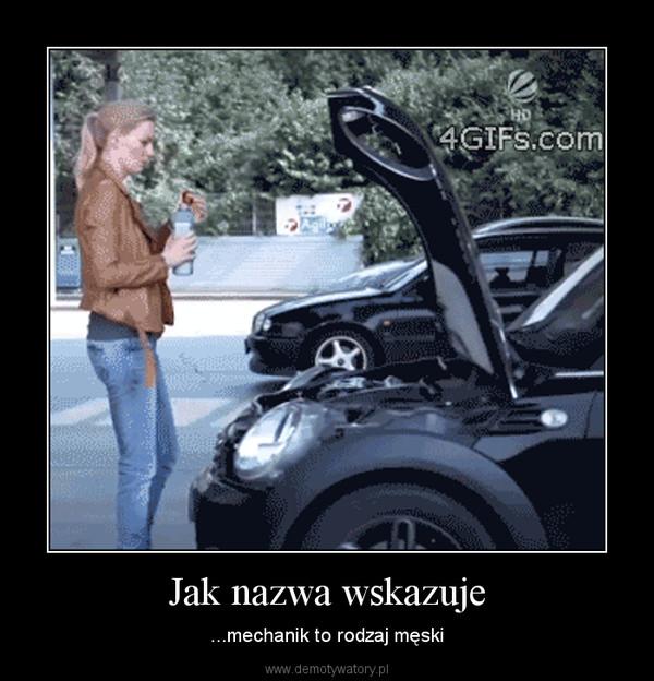 Jak nazwa wskazuje – ...mechanik to rodzaj męski