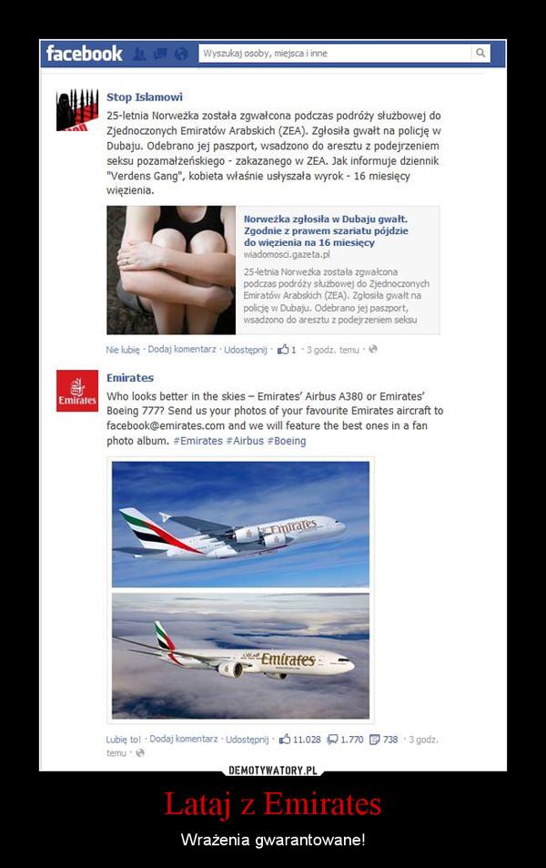 Lataj z Emirates – Wrażenia gwarantowane!