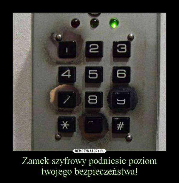 Zamek szyfrowy podniesie poziom twojego bezpieczeństwa! –