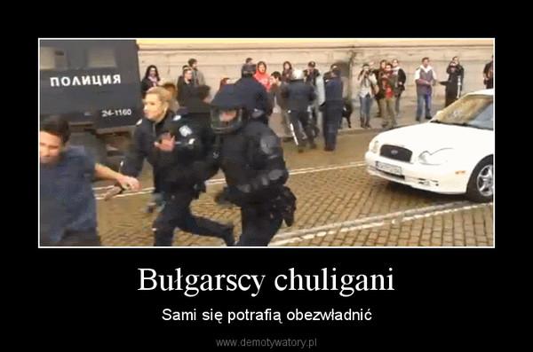 Bułgarscy chuligani – Sami się potrafią obezwładnić