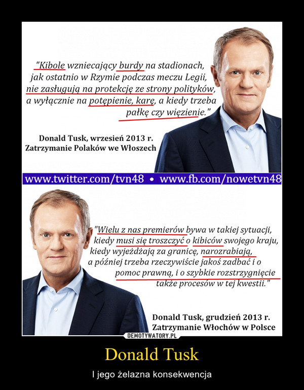 Donald Tusk – I jego żelazna konsekwencja