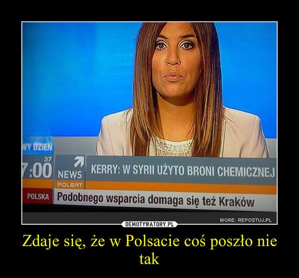 Zdaje się, że w Polsacie coś poszło nie tak –