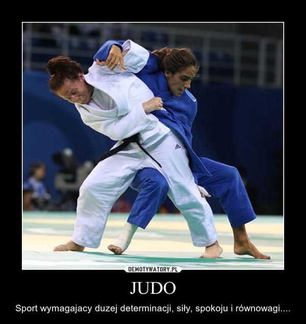 JUDO – Sport wymagajacy duzej determinacji, siły, spokoju i równowagi....