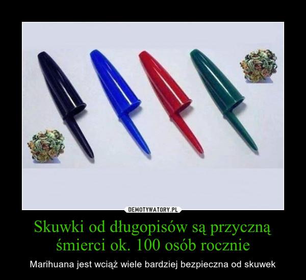 Skuwki od długopisów są przyczną śmierci ok. 100 osób rocznie – Marihuana jest wciąż wiele bardziej bezpieczna od skuwek