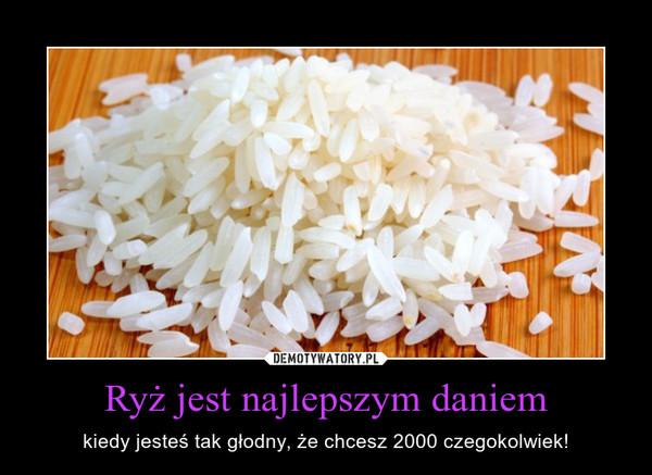 Ryż jest najlepszym daniem – kiedy jesteś tak głodny, że chcesz 2000 czegokolwiek!