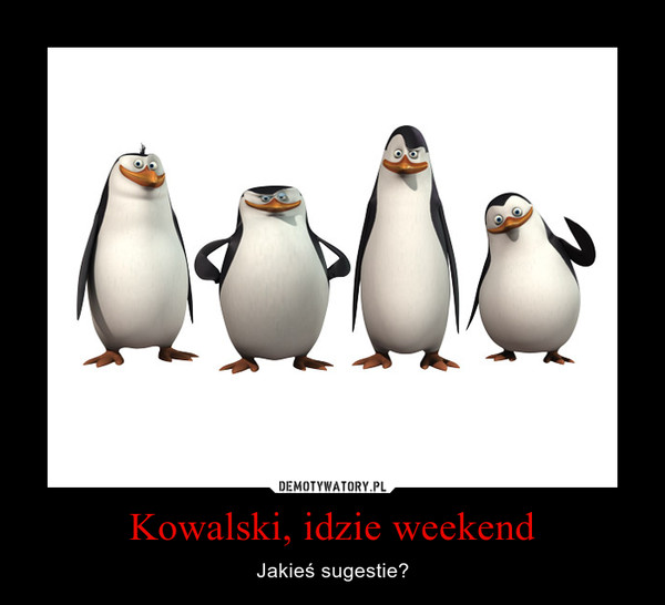 Kowalski, idzie weekend – Jakieś sugestie?