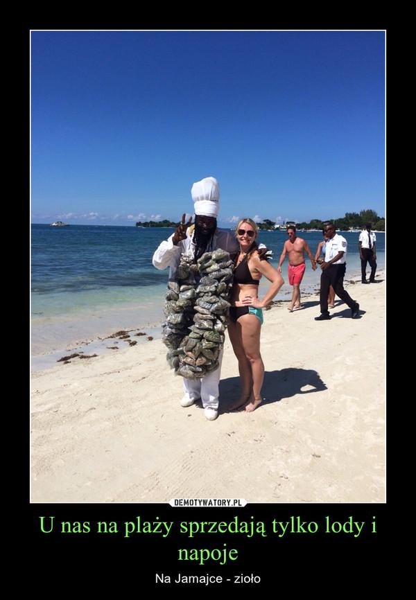 U nas na plaży sprzedają tylko lody i napoje – Na Jamajce - zioło