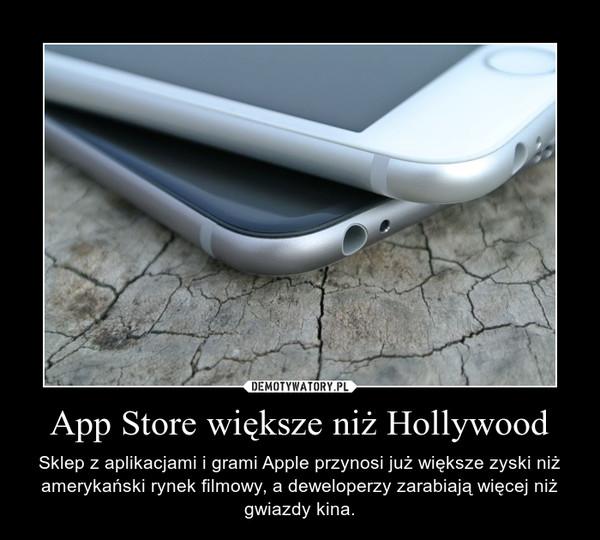 App Store większe niż Hollywood – Sklep z aplikacjami i grami Apple przynosi już większe zyski niż amerykański rynek filmowy, a deweloperzy zarabiają więcej niż gwiazdy kina.