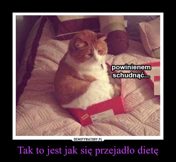 Tak to jest jak się przejadło dietę –