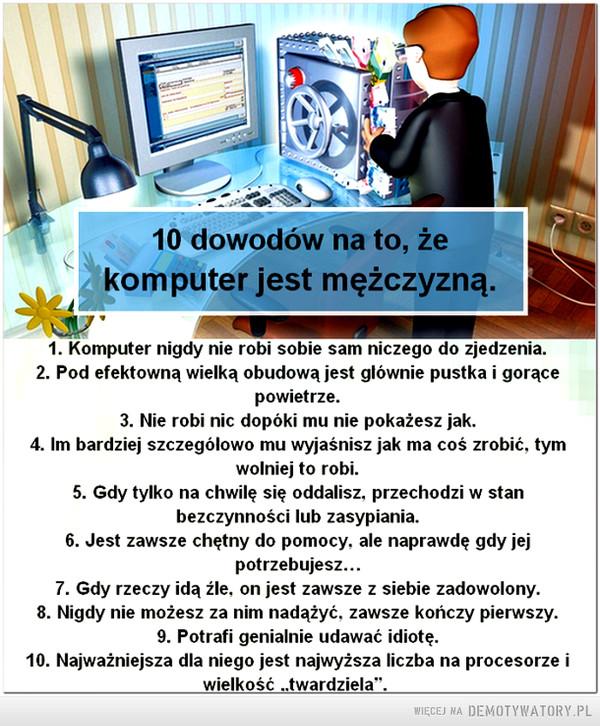 Komputer jest mężczyzną –
