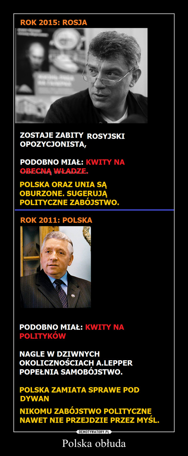 Polska obłuda –