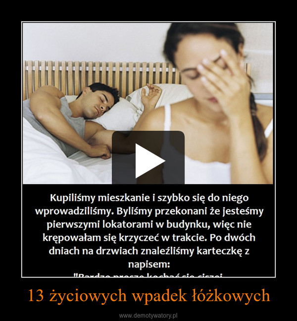 13 życiowych wpadek łóżkowych –