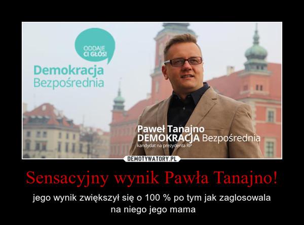 Sensacyjny wynik Pawła Tanajno! – jego wynik zwiększył się o 100 % po tym jak zaglosowala na niego jego mama