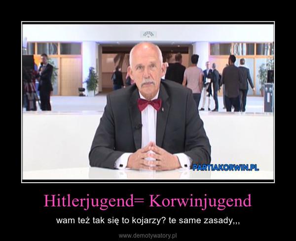 Hitlerjugend= Korwinjugend – wam też tak się to kojarzy? te same zasady,,,