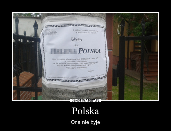 Polska – Ona nie żyje