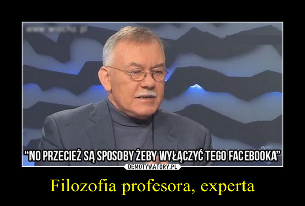 Filozofia profesora, experta –