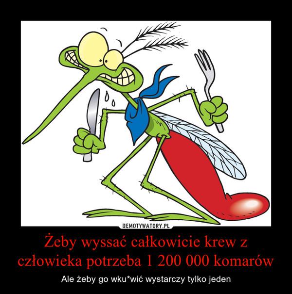 Żeby wyssać całkowicie krew z człowieka potrzeba 1 200 000 komarów – Ale żeby go wku*wić wystarczy tylko jeden