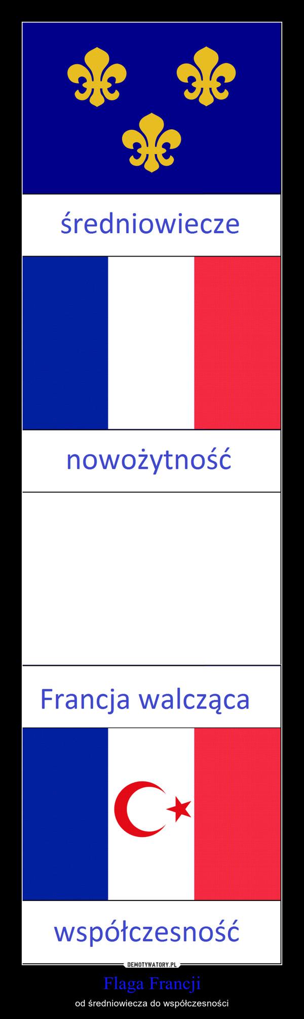 Flaga Francji – od średniowiecza do współczesności