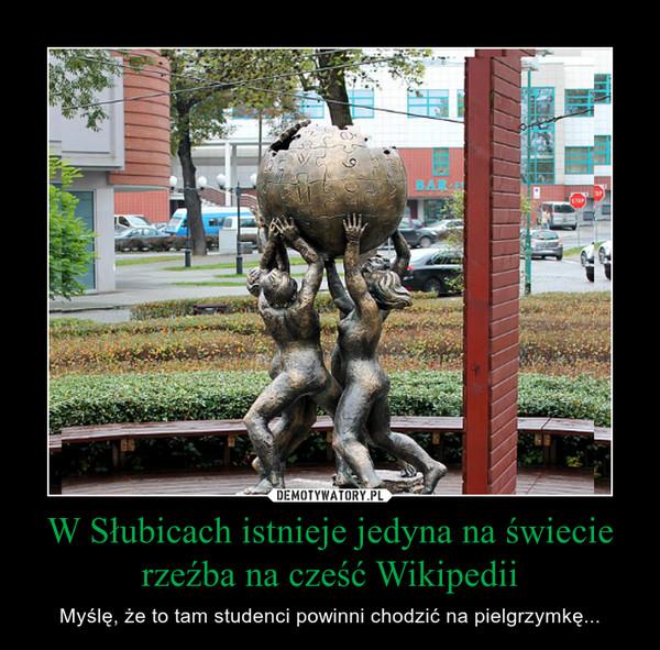 W Słubicach istnieje jedyna na świecie rzeźba na cześć Wikipedii – Myślę, że to tam studenci powinni chodzić na pielgrzymkę...