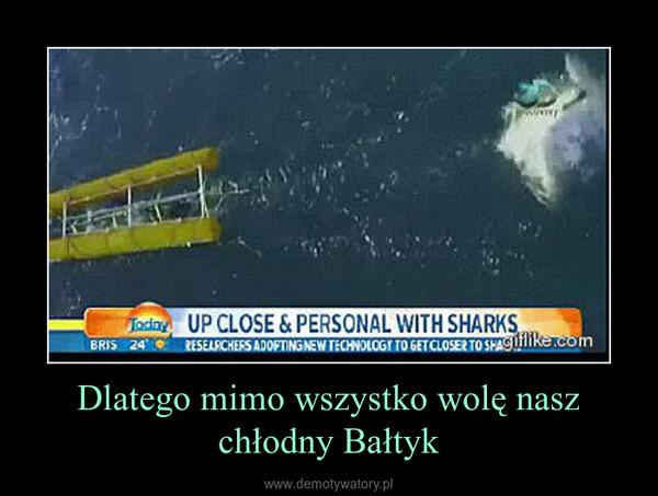 Dlatego mimo wszystko wolę nasz chłodny Bałtyk –