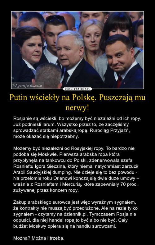 Putin wściekły na Polskę. Puszczają mu nerwy!