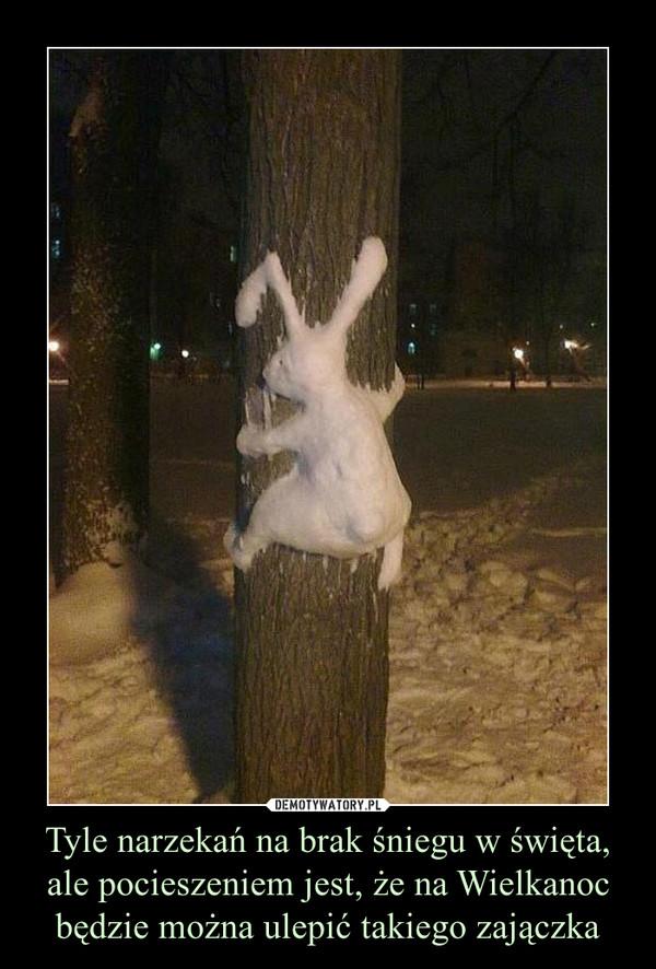Tyle narzekań na brak śniegu w święta, ale pocieszeniem jest, że na Wielkanoc będzie można ulepić takiego zajączka –