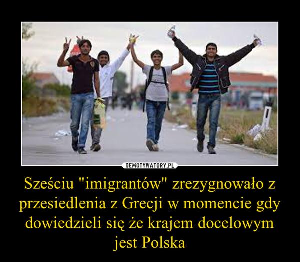 """Sześciu """"imigrantów"""" zrezygnowało z przesiedlenia z Grecji w momencie gdy dowiedzieli się że krajem docelowym jest Polska –"""
