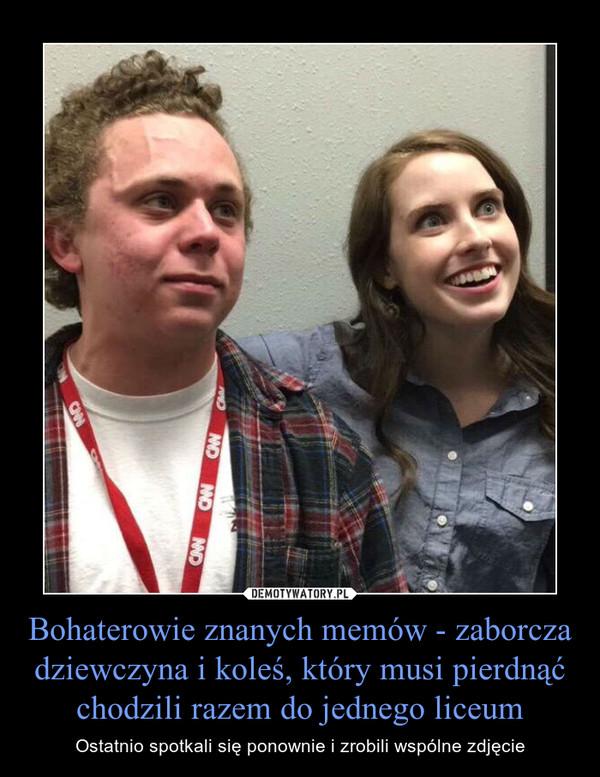 Bohaterowie znanych memów - zaborcza dziewczyna i koleś, który musi pierdnąć chodzili razem do jednego liceum – Ostatnio spotkali się ponownie i zrobili wspólne zdjęcie